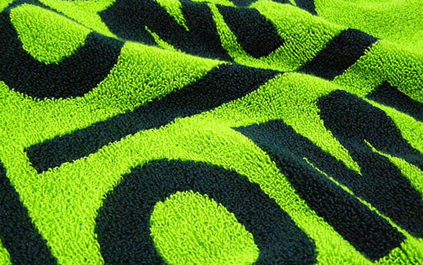 Color Jacquard Towel