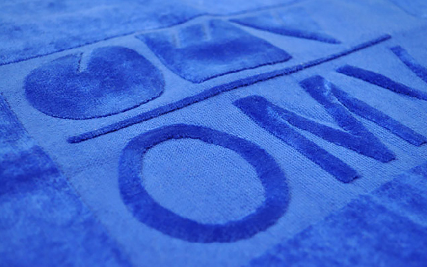 Embossed Velour Towel